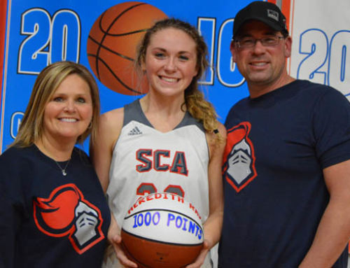 Senior, Meredith Ray scores 1,000th point